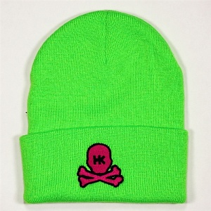 Шапка HK Army Skull Beanie Lime/Red