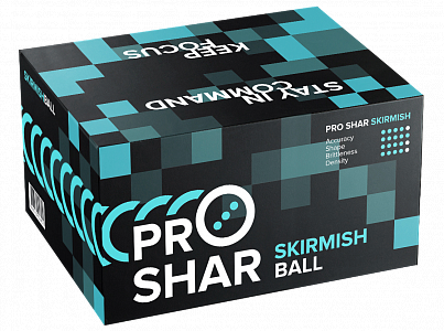 Шары для пейнтбола PRO-SHAR Skirmish NEW 10 кор. (0,68)