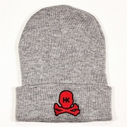 Шапка HK Army Skull Beanie grey/red