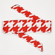 HK Army Hounds Tooth Red Headband