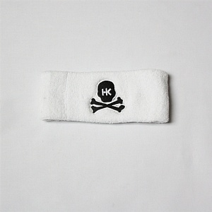 Повязка HK Army skull sweatband white/black