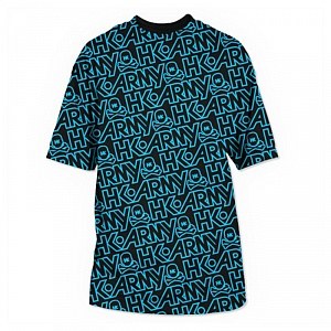 Футболка HK Army T-shirt ALL OVER BLUE