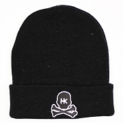 Шапка HK Army Skull Beanie black/white