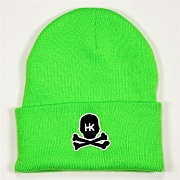 Шапка HK Army Skull Beanie lime/black