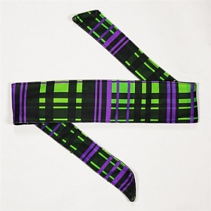 HK Army Plaid Neon Headband