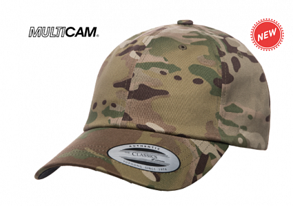 Кепка бейсболка FlexFit 6245MC Yupoong® Low Profile Cotton Twill Multicam®