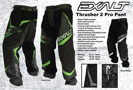 Брюки Exalt 2011 Thrasher Pro Black with grey-White
