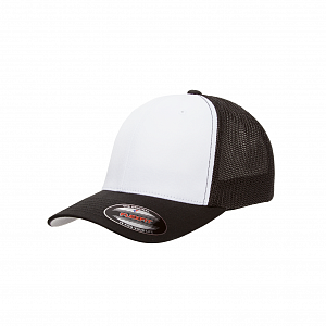 Кепка бейсболка FlexFit 6511W Flexfit Trucker Mesh with White Front Panels