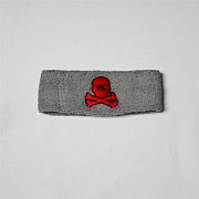 Повязка HK Army skull sweatband grey/red