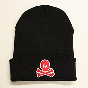 Шапка HK Army Skull Beanie black/red